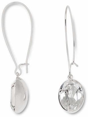 Swarovski Earrings, Puzzle Clear Crystal Drop Earrings $69 thestylecure.com