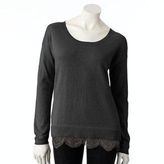 Lauren Conrad lace sweater - women's
