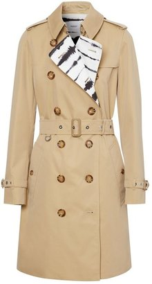 Burberry Watercolour Print-lined Cotton Gabardine Trench Coat