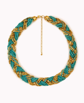 Forever 21 Metallic-Braided Necklace