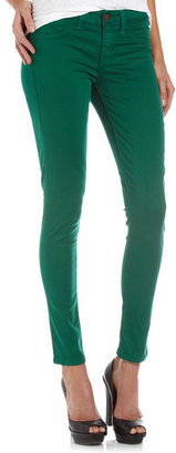 Fade To Blue Skinny Ankle Jeans, Eternal Green
