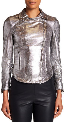 Muubaa Monteria Genuine Leather Biker Jacket $475 thestylecure.com