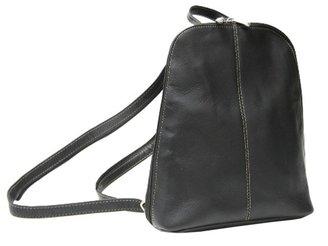 Royce Leather Vaquetta Zip-Around Sling Backpack