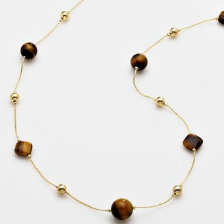 Croft and barrow® gold-tone beaded long necklace