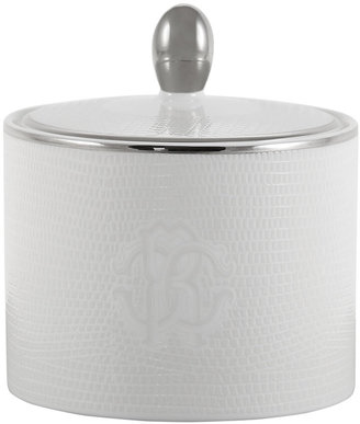 Roberto Cavalli Lizzard Sugar Pot - Platinum
