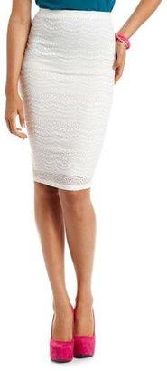 Charlotte Russe Crochet Lace Pencil Skirt