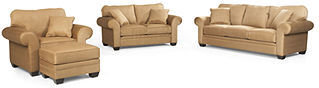 Raja Fabric Living Room Furniture, 4 Piece Set (Queen Sleeper Sofa Bed, Loveseat, Chair and Ottoman)