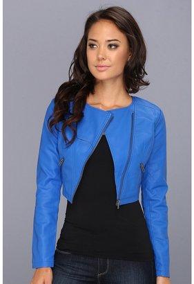 BB Dakota Zuma Vegan Leather Jacket (Pool Blue) - Apparel