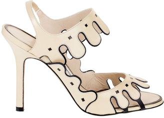 Manolo Blahnik Cripta cream sandal