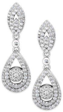 Wrapped in Love Diamond Dangling Drop Earrings in 14k White Gold (1 ct. t.w.), Created for Macy's