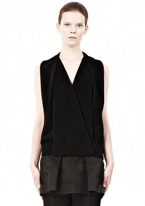 Alexander Wang Stingray Embossed Silk Muscle Tank