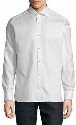 Ermenegildo Zegna Classic Long-Sleeve Twill Shirt