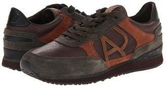 Armani Jeans Logo Sneaker (Brown Multi) - Footwear