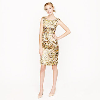 J.Crew Collection Lucille dress in cheetah brocade
