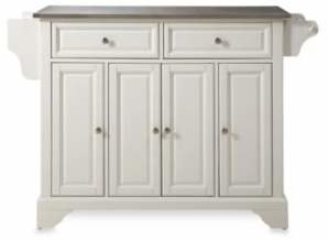 Crosley LaFayette Stainless Steel Top Kitchen Island in White