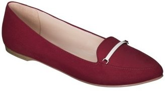 Mossimo Women's Valmai Pointed Toe Loafer - Red