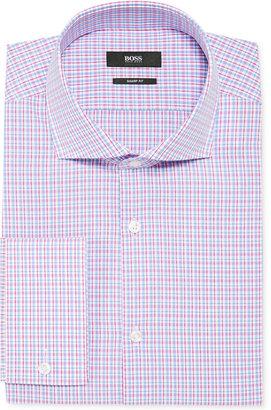 HUGO BOSS BOSS By Pink Check French Cuff Shirt