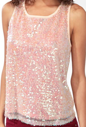 Forever 21 Ditsy Paillette Tank