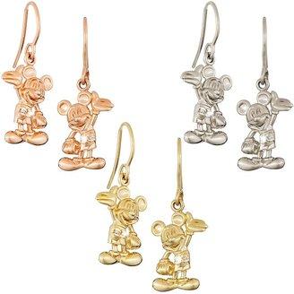 Disney Mickey Mouse Earrings Diamond and 14K