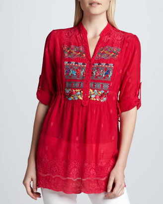 Johnny Was Collection Embroidered Fireworks Blouse, Women's