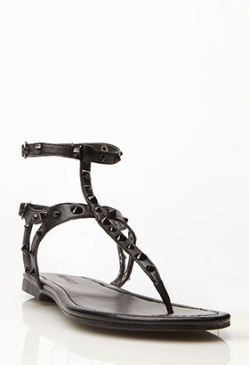 Forever 21 Spike-Accented Gladiator Thong Sandals
