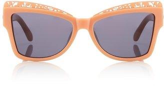 Karen Walker Peach Atomic Cat-Eye Sunglasses