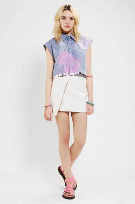 Urban Outfitters Rag Union X Urban Renewal Cropped Foiled Shirt