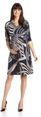 Olian Women's Maternity Colette Front Tie Dress