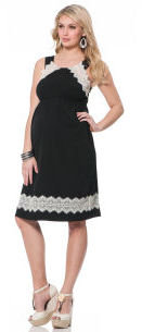 Motherhood Jessica Simpson Sleeveless Lace Trim Maternity Dress
