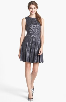 Vince Camuto Faux Leather Fit & Flare Dress