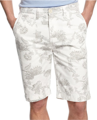 GUESS Shorts, Collage Floral Print Shorts