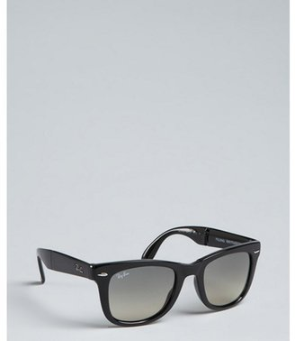 Ray-Ban black plastic 'Folding Wayfarer' sunglasses