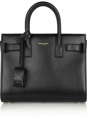 Saint Laurent - Sac De Jour Nano Leather Tote - Black $1,990 thestylecure.com