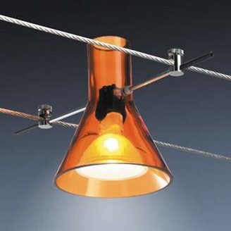 Bruck Lighting HIgh Line Track Head Color: Matte Chrome, Shade Color: Orange
