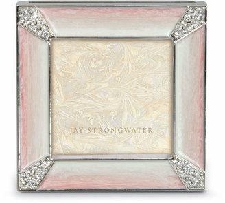 Jay Strongwater Leland Pink Pave Corner Square Frame