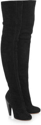 Alaia Suede thigh boots
