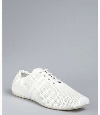 Hogan white cutout patent leather 'H' sneakers