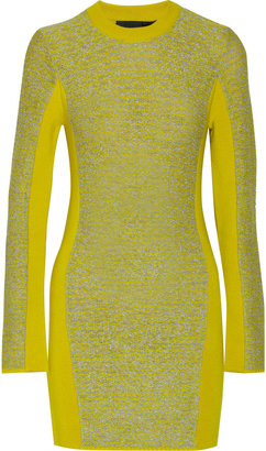 Alexander Wang Wool-blend and rubberized-tweed mini dress