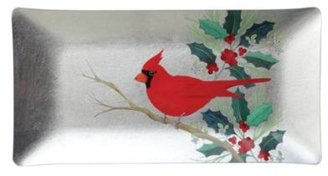 Fringe Long Medium Tray, Cardinal Song Foil