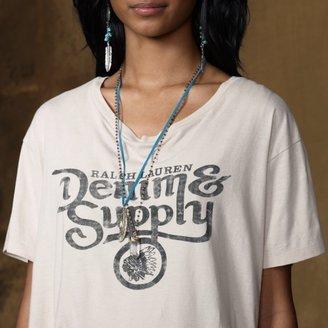 Denim & Supply Ralph Lauren Moto Boyfriend Tee