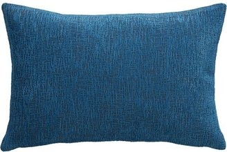 Crate & Barrel Devin Blue Pillow with Feather-Down Insert.