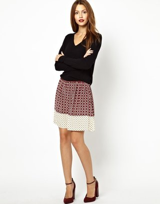 Vanessa Bruno Silk Skirt in Moroccan Print