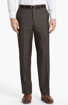 Linea Naturale Flat Front Wool Trousers
