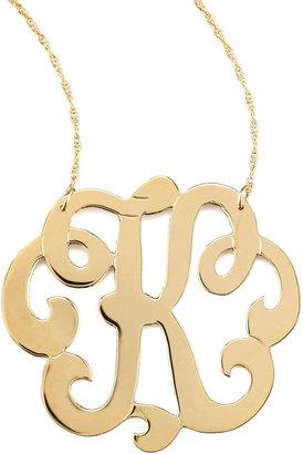 Jennifer Zeuner Jewelry Swirly Initial Necklace, K