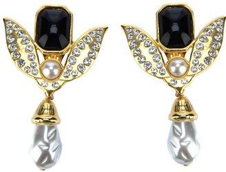 Lancetti Vintage encrusted earrings
