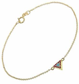 Jennifer Meyer Turquoise and Ruby Triangle Inlay Bracelet