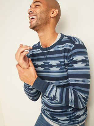 Old Navy Soft-Washed Printed Thermal-Knit Long-Sleeve Tee for Men
