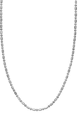 Giani Bernini Necklace, Sterling Silver Dot Dash Chain 20""