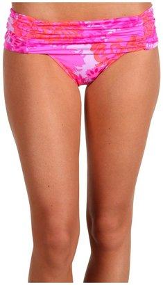 Nanette Lepore Palm Beach Tropical Sweetheart Bottom (Hot Coral) - Apparel