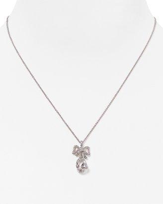 "Nadri Lavish Bow Pendant Necklace, 16"""